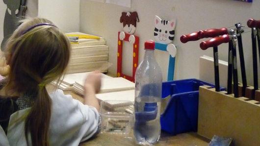 Kinderatelier oder Holzwerkstatt