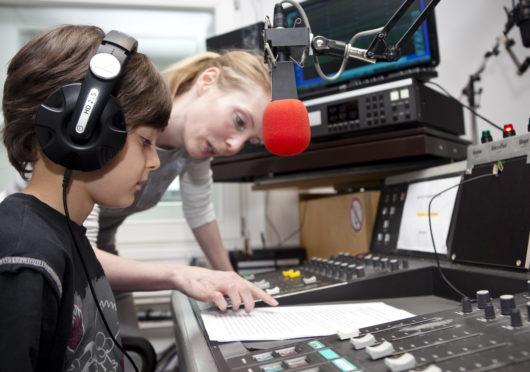 Geburtstag feiern im Radiostudio